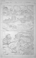 Incredible Hulk #611, pg 21 (Hulk vs Skaar) Comic Art