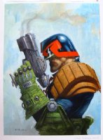 Greg Staples Judge Dredd Pin-up Comic Art