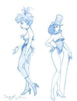Dean Yeagle - Saloon Dancer and... Zatanna? Comic Art