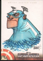 Francisco Herrera Captain America: The First Avenger Sketch Card Comic Art