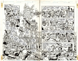 JOSE LUIS GARCIA-LOPEZ TWILIGHT PAGES 26 AND 27 OF ISSUE #3 Comic Art