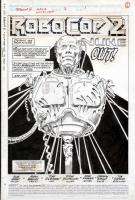 MARK BAGLEY - ROBOCOP #2 TITLE PAGE 1 SPLASH ART - ROBOCOP DISMEMBERED! Comic Art