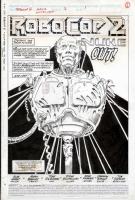 MARK BAGLEY - ROBOCOP #2 TITLE PAGE 1 SPLASH ART - ROBOCOP DISMEMBERED! Comic Art