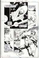 JLA ACT OF GOD #2 PAGE 45 ORIGINAL ART - KYLE RAYNER - GREEN LANTERN NO MORE! Comic Art