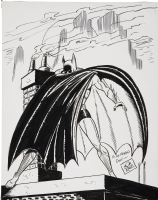 Undated Bob Kane Batman sketch Comic Art