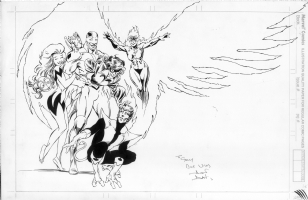 Alan Davis Excalibur In House Ad Comic Art