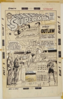 Swan/Klein Superman 179 Cover Comic Art