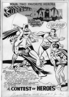 Curt Swan World's Finest #74 splash Comic Art