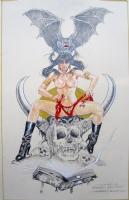 MOST RECENT COMMISSION SEXY VAMPIRELLA  BY ESTEBAN MAROTO .SOLD !! Comic Art