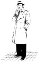 Vittorio Giardino - Sam Pezzo, illustration Comic Art