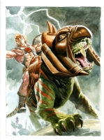 Blank - JG Jones - He-Man and Battle Cat Comic Art