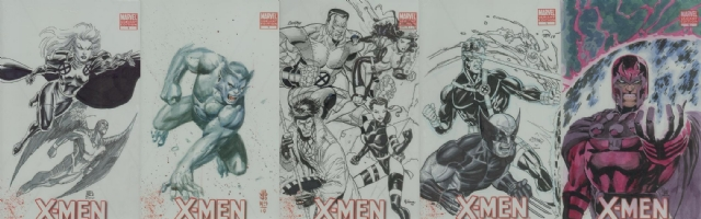 Jim Lee X-Men 1 Cover Recreation Jam Comic Art