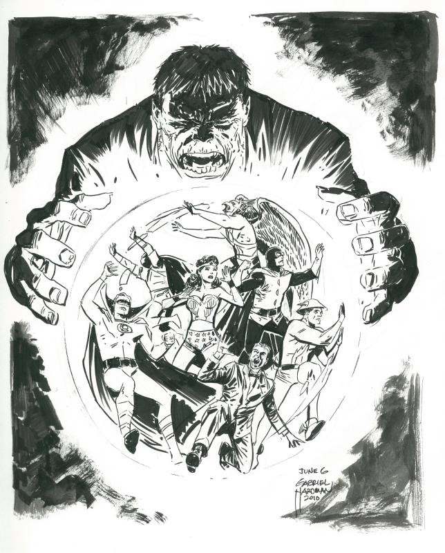Gabriel Hardman - All Star Comics 33 Cover Recreation Comic Art