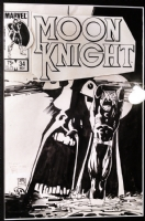 Moon Knight #34, cover - Bill Sienkiewicz Comic Art
