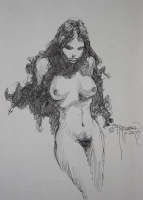 Nude Woman Sketch 2 Comic Art