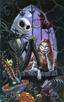 Jack Skellington and Sally from The Nightmare Before Christmas Comic Art