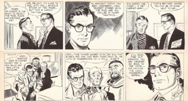 Alex Raymond. 2 Rip Kirby 1954. Comic Art