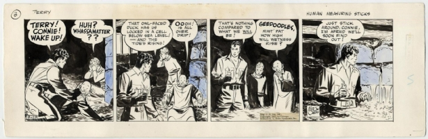 Milton Caniff. Terry and the Pirates 1937. Comic Art