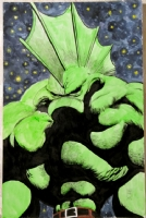 Varky Varky Night  (Cerebus as Savage Dragon as done by Van Gogh) Comic Art
