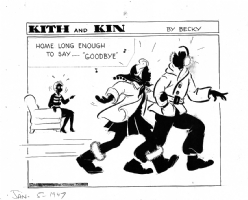 Kith and Kin  (01/05/47) by Rebecca (Becky) Krehbiel (Chicago Tribune) Comic Art