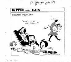 Kith and Kin  (07/13/47) by Rebecca (Becky) Krehbiel (Chicago Tribune) Comic Art