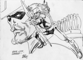 Gil Kane Green Arrow sketch Comic Art