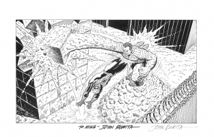 John Romita, Sr.-commission piece Comic Art
