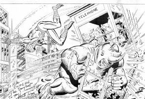 Spiderman vs. Rhino by Herb Trimpe Comic Art
