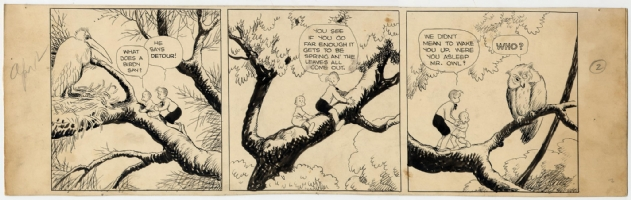 Gasoline Alley Sunday (tier), Frank King, Comic Art