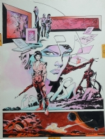 Space Clusters, Alex Nino Comic Art