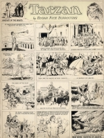 Tarzan Sunday 1-29-33, Hal Foster, Comic Art