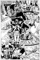 Godzilla vs SHIELD (Godzilla #1, pg 11). Comic Art