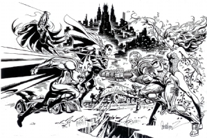 Garcia-Lopez Batman Returns Comic Art
