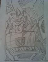 Autobot Springer Pencils, Comic Art