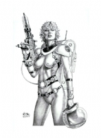Space Girl by Clyde Caldwell Comic Art