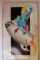 Rocket Girl by Jason Eden. Comic Art