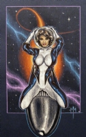 Rocket Girl by Michael McDaniel Comic Art