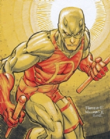 Daredevil Yellow by Freddie Williams II DCF 2012 Comic Art