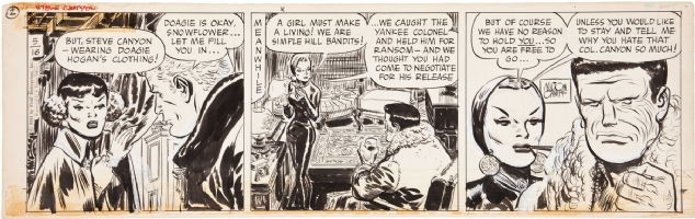 Steve Canyon daily comic by Milton Caniff Comic Art