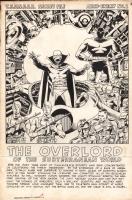 Wally Wood - T.H.U.N.D.E.R. Agents #8 Full page pinup Comic Art