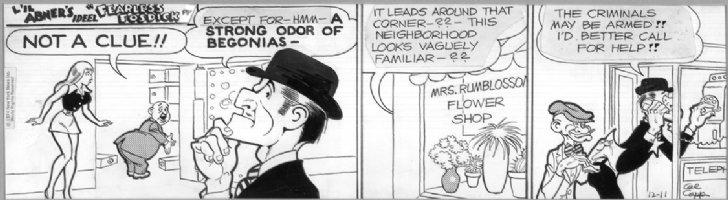 1974 L'il Abner Fearless Fosdick Comic Art