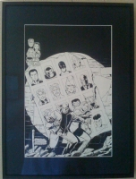 1st App. of Invincible - Noble Causes #3 Family Secrets Variant Cover Original Art Comic Art