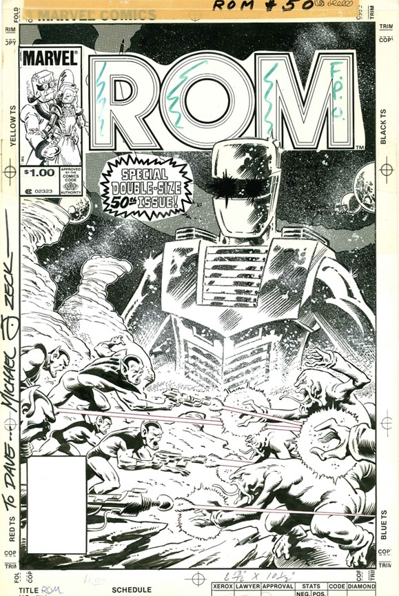 Rom Spaceknight #50 cover Comic Art