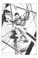 Five Ghosts #8 Splash - Chris Mooneyham, Comic Art