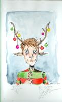 Sweet Tooth Christmas Card Painting - Jeff Lemire, Comic Art