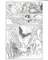 Sixth Gun 4 page 9 Becky vs General Hume, summons Phoenix, Comic Art
