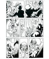 Sixth Gun #2 page 19 - Battle Page featuring Drake, Becky and Bill John, Comic Art
