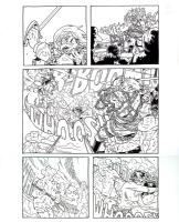 Sixth Gun 4 page 8 Becky vs General Hume, Comic Art