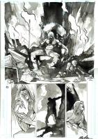 American Vampire 4 page 20 - Skinner Sweet Half Splash, Comic Art