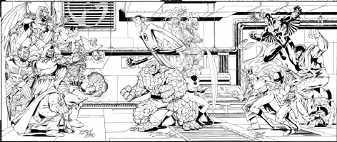 FF vs. Villains vs. Inhumans commission Comic Art